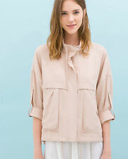 ZARA NUDE SOFT JACKET WITH POCKETS BNWT - SIZE S / M SOLD OUT IN STORES & ONLINE