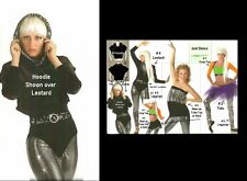 JUST DANCE Cropped Hip Hop Black Velvet HOODIE ONLY Dance Costume CHILD & ADULTS