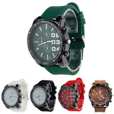 Luxury Sport Analog Quartz Clock Mens Stainless Case Steel Wrist Watch Salable