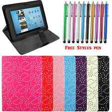 New Folio Leather Case Cover For Variouse 8'' Android Tablet Samsung Acer Asus