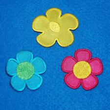 Flower Iron on Sew Patch Cute Applique Badge Embroidered Nature Plant Biker Baby