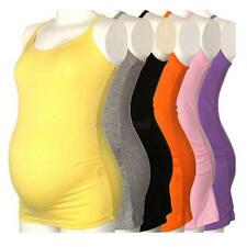 Women's Strappy Vest Tank Tops Camisole Maternity Pregnant Casual Yoga T-shirt