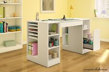 Crafting Desk Table Computer Desk Scrapbooking Sewing Storage Office Organized