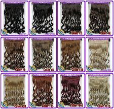 170g Curly/Deep Weaving 5Clips on One Piece Virgin Clip In Human Hair Extensions