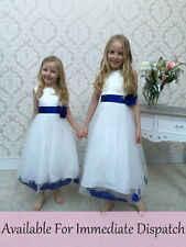 Flowergirl dress & PETALI & Sash partito pagent Damigelle Ragazze WEDDING JUNIOR