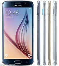 "New Samsung Galaxy S6 SM-G920F (FACTORY UNLOCKED) 5.1"" QHD-Black/White/Blue/Gold"