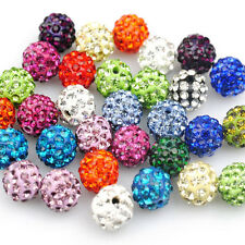 Lots 20Pcs Czech Crystal Rhinestone Clay Round Disco Ball Spacer Beads DIY6-12mm