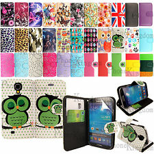 Leather Wallet Flip Case Cover For Samsung Galaxy S4 i9500 Free Screen Protector