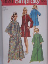 8510 VINTAGE Simplicity SEWING Pattern Misses Robe Bathrobe 1960s Small