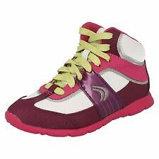 Girls Cica by Clarks Casual High Top Trainers - Prance High