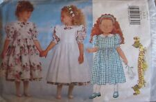 4750 Butterick Sewing Pattern Little Girls Dress Pinafore Easter Spring FF UNCUT