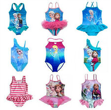 New Girls Kids Frozen Anna Elsa Swimwear Skirt Tutus Swimsuit Beachwear Sz3-10Y