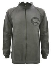 Harley-Davidson Men's Track Jacket Willie G Skull Logo Charcoal Warm Up 30296619
