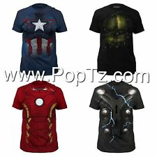 The Avengers Age of Ultron Hulk Iron Man Thor Captain America Costume T-shirt
