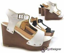 Womens Fashion Wedge High Heel Platform Open Toe Sandal Pump Shoes Comfort HOT