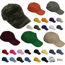 Baseball Cap Plain Solid Blank Caps  Washed Cotton Polo Style Ball Cap Hat Hats