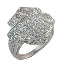 Harley-Davidson Stamper Women's Ring, White Crystal Bar & Shield RCR0001W