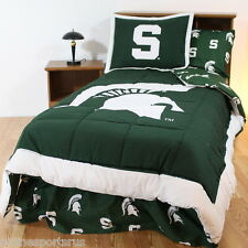 Michigan State Spartans Comforter Bedskirt Sham Twin Full Queen Size