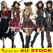Ladies Captain Pirate Wench Caribbean Swashbuckler Halloween Costume Fancy Dress