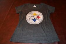 Pittsburgh Steelers Womens Distressed look logo shirt *New with Tags* LAST ONE