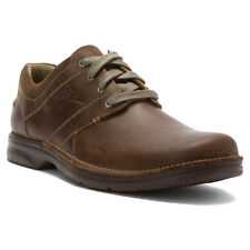 Clarks SENNER PLACE Mens Olive 66257 Leather Lace Up Dress Casual Oxford Shoes