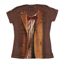 Doctor Who 11th Doctor Brown Shirt Costume Women's Juniors T-Shirt