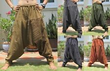Harem Low Drop Crotch Yoga Boho Baggy Gypsy Hippie Aladdin Unisex Trousers Pants