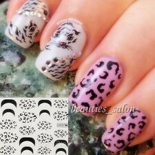 1Sheet Nail Art Water Decals Transfers Sticker Leopard Pattern #H037/H038