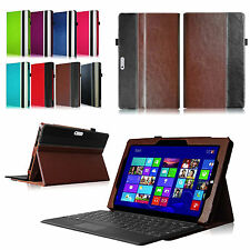 Microsoft Surface Tablet Folio Leather Case Cover With Keyboard Holder Stand