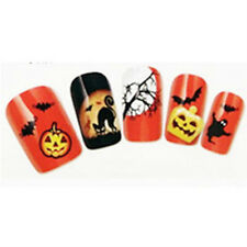 1 Sheet Nail Art Water Decals Transfers Sticker Halloween Pumpkin Cat Skull