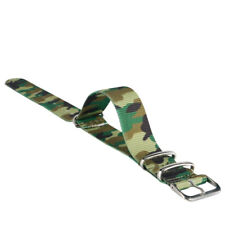 Nylon Fabric Canvas 22mm Width Width Wrist Watch Band Strap Pin Buckle 7 Colors