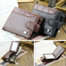 NEW MENS BOYS LUXURY SOFT LEATHER WALLET CREDIT CARD HOLDER PURSE GIFT NEW