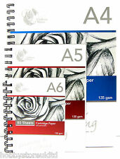 Spiral Sketch Pad Sketching Book Cartridge Paper Pad Drawing Pad Hardback 135gsm