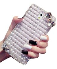 Luxury 3d Bow Pearl Bling Rhinestone For Samsung Galaxy Note 3 Case Diamonds