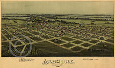 1891 Vintage Wall Map Ardmore Oklahoma Indian Territory Largest Sizes