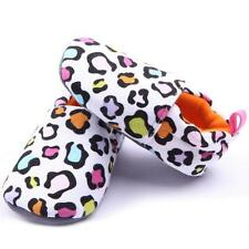 Hot Infant Baby Girl Crib Shoes Pink/Leopard Soft Sole Toddler Walking Shoes E62