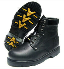 """Rhino Mens 65S01 6"""" Steel Toe Oil Resistant Leather Work Boots [ Black ]"""