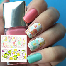 1Sheet Frog Full Nail Art Manicure Water Decals Transfers Sticker Bird Pattern
