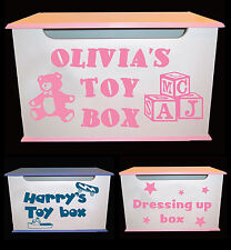 kids Toy box ,Dressing up box personalized vinyl stickers