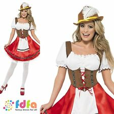 BAVARIAN WENCH OKTOBERFEST BEER GIRL-UK 8-22 - womens ladies fancy dress costume