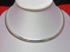 STERLING SILVER PLATED 6 MM & 8 MM OMEGA NECKLACES,16-18 inches
