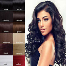 "US Cheap Price 7 PCS Clip In Remy Human Hair Extensions Full Head Black 20"" B445"