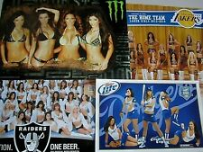 NEW 4 Combo Lot Lakers Dodgers Monster Raiders Beer Hot Chick Poster MLB NFL NBA