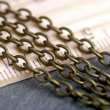 12ft Antique Bronze Plated Cable Chain Link Bronze Chains 4.4x3.3mm c216 PICK
