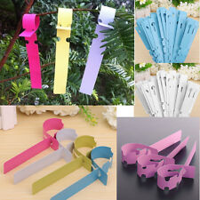 100 x Garden Plant Tied Tags Markers Labels Plastic Blank Display Flowers Pot
