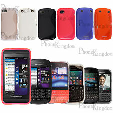 S-Line Silicone Wave Gel Skin Back Case Cover For BlackBerry Mobile Phones