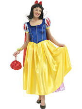 Fairytale Snow White Ladies Halloween Outfit Long Fancy Dress Costume Fantasy