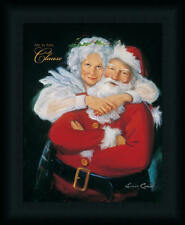 Mr. and Mrs. Santa Claus Holiday Portrait Framed Art Print Wall Décor Picture