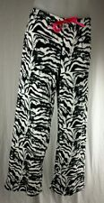 Plush Zebra Print Womens  PAJAMA PANTS Bobbie Brooks Animal Black & White