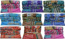 Ikat Kantha Quilt Indian Handmade Bedspread Throw Cotton Gudari Ethnic Blanket